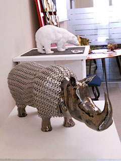 expo credit du nord clermont sculpture rhino emmaille